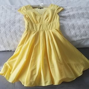 Ted Baker Size 2 Yellow Dress